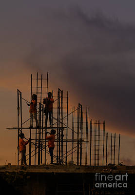 Photograph - Sunset Workers by Soren Egeberg