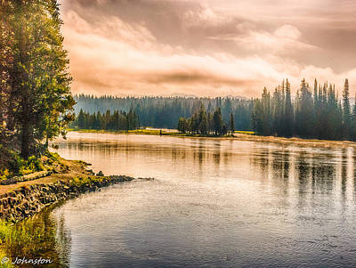 Photograph - Sunset Yellowstone by Bob and Nadine Johnston