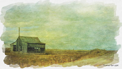 Painting - Sunseting On Old Barn by Lisa and Norman  Hall
