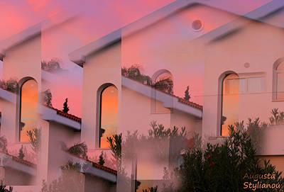 Sunsets On Houses Art Print