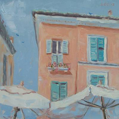 Sunshade Painting - Sunshades In Ravenna by Elinor Fletcher