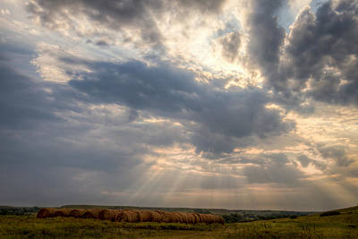 Photograph - Sunshine And Hay Bales by Scott Bean