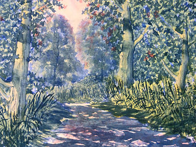 Painting - Sunshine And Shadows In Dane's Dyke by Glenn Marshall