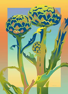 Artichoke Digital Art - Sunshine Artichoke by David Chestnutt