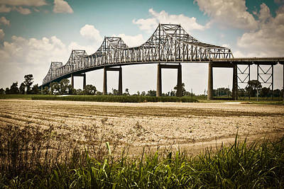 Sunshine Bridge Mississippi Bridge Art Print by Ray Devlin