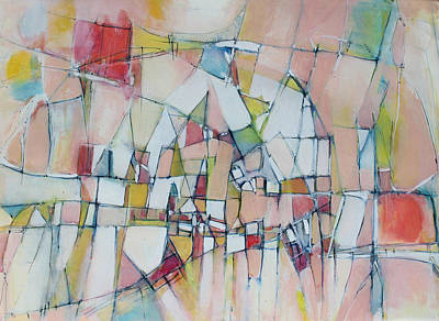 Hari E. Thomas Abstract Painting - Sunshine City by Hari Thomas
