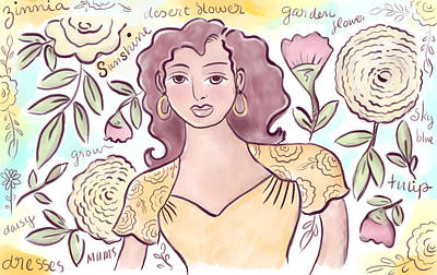 Digital Art - Sunshine Flowers by Elaine Jackson