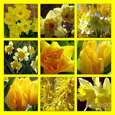 Sunshine Gold Picture Window Art Print