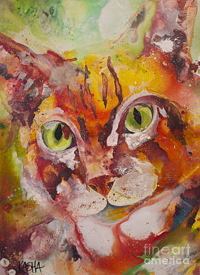Feeline Painting - Sunshine  by Kasha Ritter