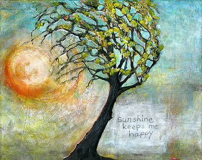 Sunshine Mixed Media - Sunshine Keeps Me Happy by Blenda Studio