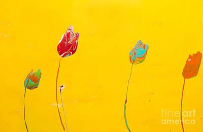 Painting - Sunshine Lollipop Flower by Laura Warburton