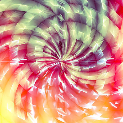 Digital Art - Sunshine Lollipop Square by Carolyn Marshall