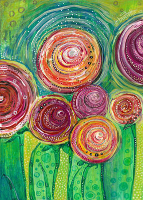 Painting - Sunshine Lollipops And Rainbows - Right Panel by Tanielle Childers