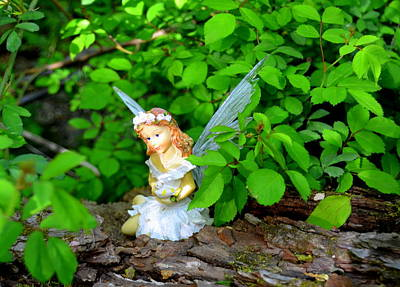 Photograph - Sunshine Makes Me Happy Woodland Fairies by Linda Rae Cuthbertson