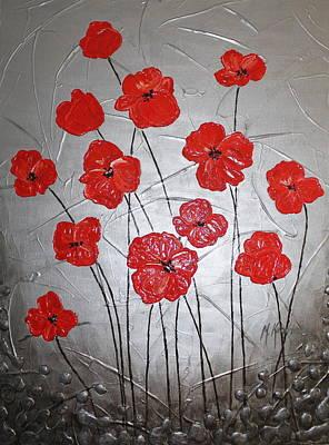 Abstract Flower Painting - Sunshine by Mariya Kazarinova