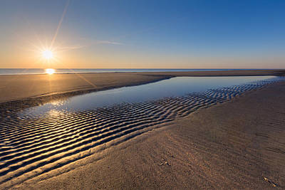 Sunshine On The Beach Art Print by Debra and Dave Vanderlaan