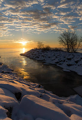 Photograph - Sunshine On The Ice - Lake Ontario Toronto Canada by Georgia Mizuleva