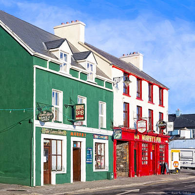 Sunshine On The Pubs In Dingle Ireland Art Print by Mark E Tisdale