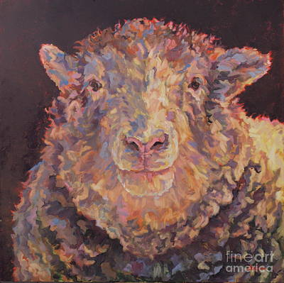 Animal Portrait Painting - Sunshine by Patricia A Griffin