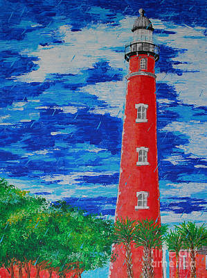 Painting - Sunshine Shower And Light Tower by Art Mantia