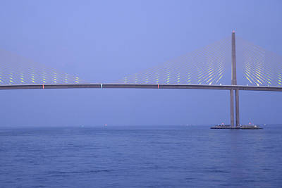 Photograph - Sunshine Skyway Bridge At Twilight by Bradford Martin