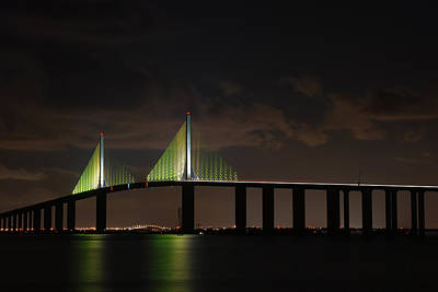 Photograph - Sunshine Skyway Bridge by Beverly Stapleton