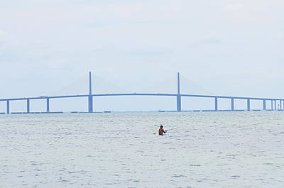 Sunshine Skyway Bridge Wall Art - Photograph - Sunshine Skyway Bridge by Bill Cannon
