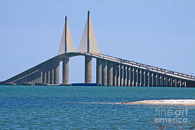 Sunshine Skyway Bridge Wall Art - Photograph - Sunshine Skyway Bridge by Delmas Lehman