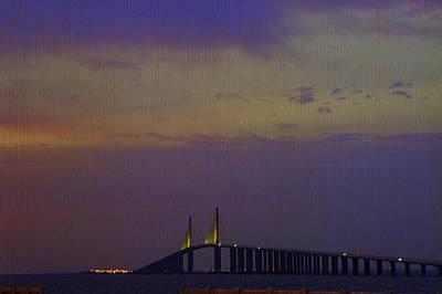 Sunshine Skyway Bridge Wall Art - Photograph - Sunshine Skyway Bridge by Laurie Perry