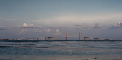 Sunshine Skyway Bridge Art Print