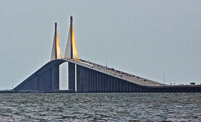 Sunshine Skyway Bridge Wall Art - Photograph - Sunshine Skyway by Kandy Hurley