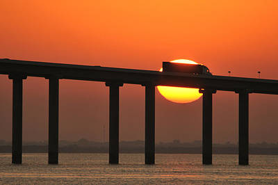 Photograph - Sunshine Skyway Truckin by Bradford Martin