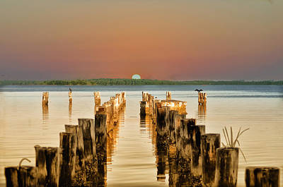 Pier Digital Art - Sunshine State Sunset by Bill Cannon