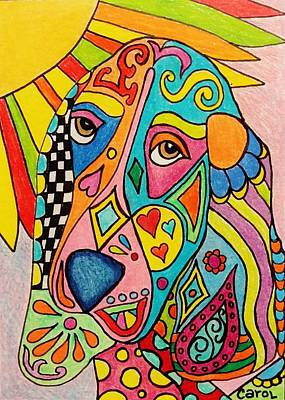 Drawing - Sunshine...a Ray Of Hope by Carol Hamby