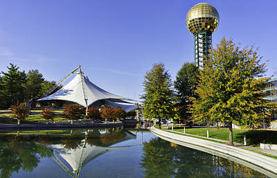 Photograph - Sunsphere In The Fall by Sharon Popek