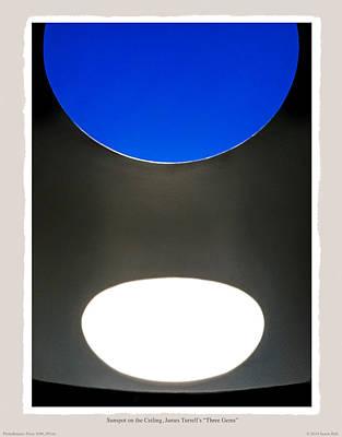 Sunspot On Ceiling James Turrells Three Gems Art Print