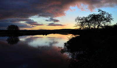 Sunsrise Over River Maine Art Print