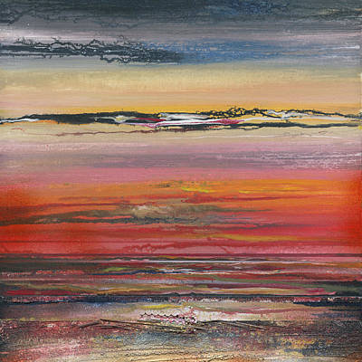 Mixed Media - Sunst Series Hauxley Haven by Mike   Bell