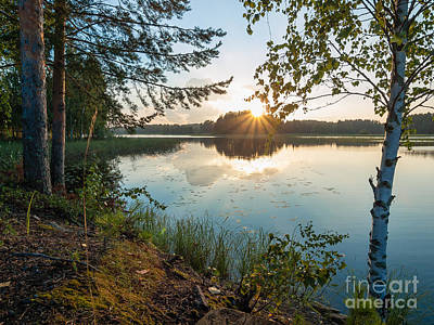 Photograph - Sunstar Lake by Ismo Raisanen