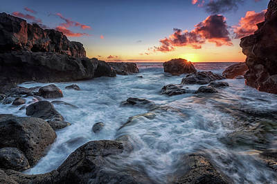 Sun Photograph - Sunstars Rocks by Miguel Pascual