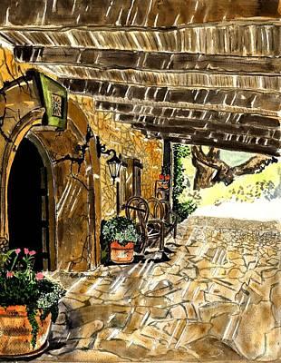 California Vineyard Painting - Sunstone Vineyard And Winery by Ruthie Briggs-Greenberg