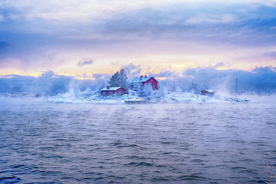 Magical Photograph - Suomenlinna Island And The Fog by Marcobesso