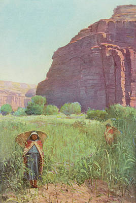 Grand Canyon Drawing - Supai Women In The Grand  Canyon by Mary Evans Picture Library