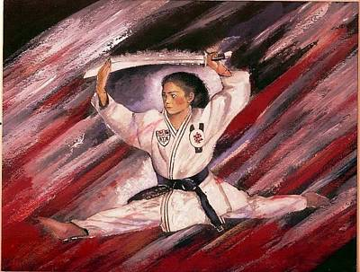 Painting - Super Blackbelt by Jerry Bates