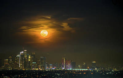 Downtown Wall Art - Photograph - Super Blue Bloody Moon by Eunice Kim
