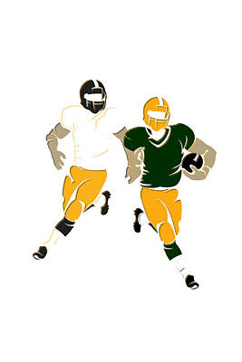 Super Bowl 45 Steelers Vs Packers Art Print by Joe Hamilton