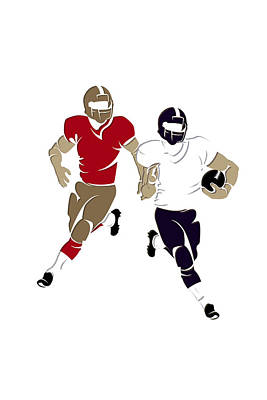 Super Bowl 47 49ers Vs Ravens Art Print by Joe Hamilton