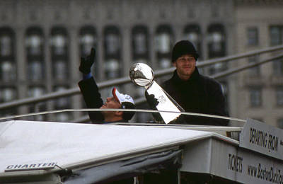 Photograph - Super Bowl Xxxviii Mvp Tom Brady by Mike Martin