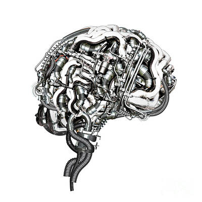 Human Brain Mixed Media - Super Brain by Diuno Ashlee