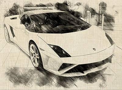 Super Car Drawing - Super Car by Nur Ismail